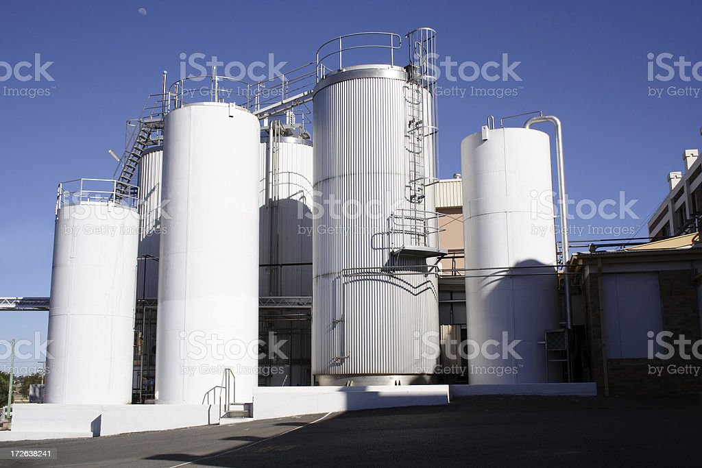 cheese and milk factory, early morning stock photo