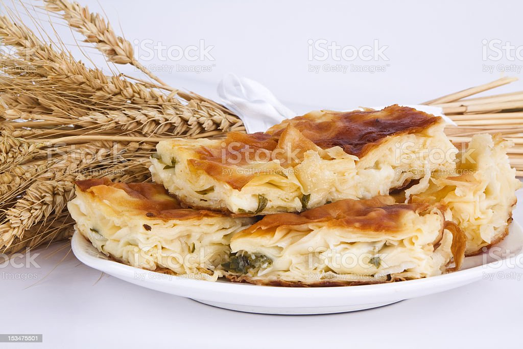 cheese and minced meat pies stock photo