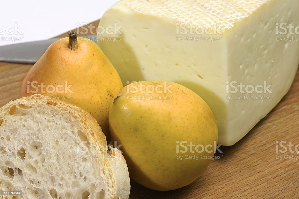 Cheese and pears royalty-free stock photo