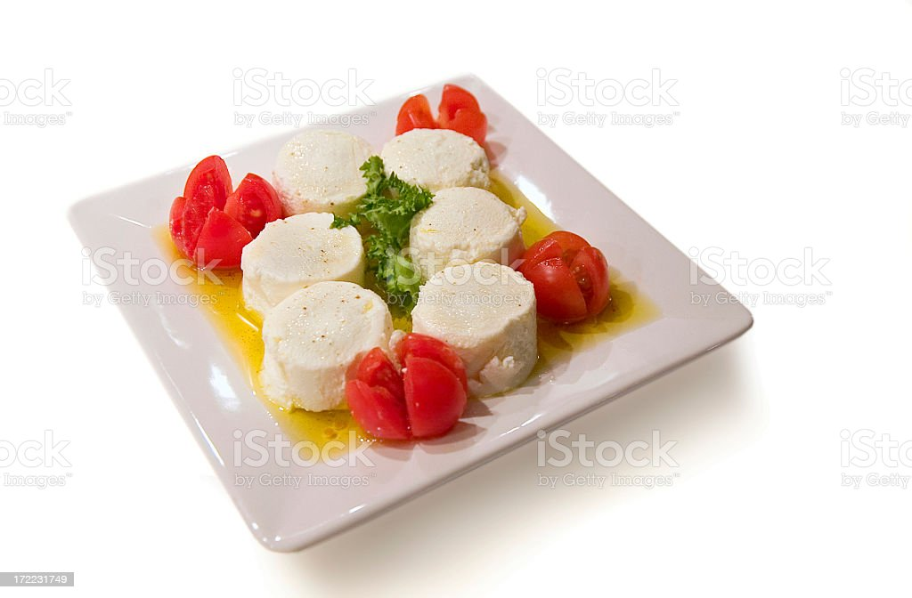 Cheese and tomatoes royalty-free stock photo
