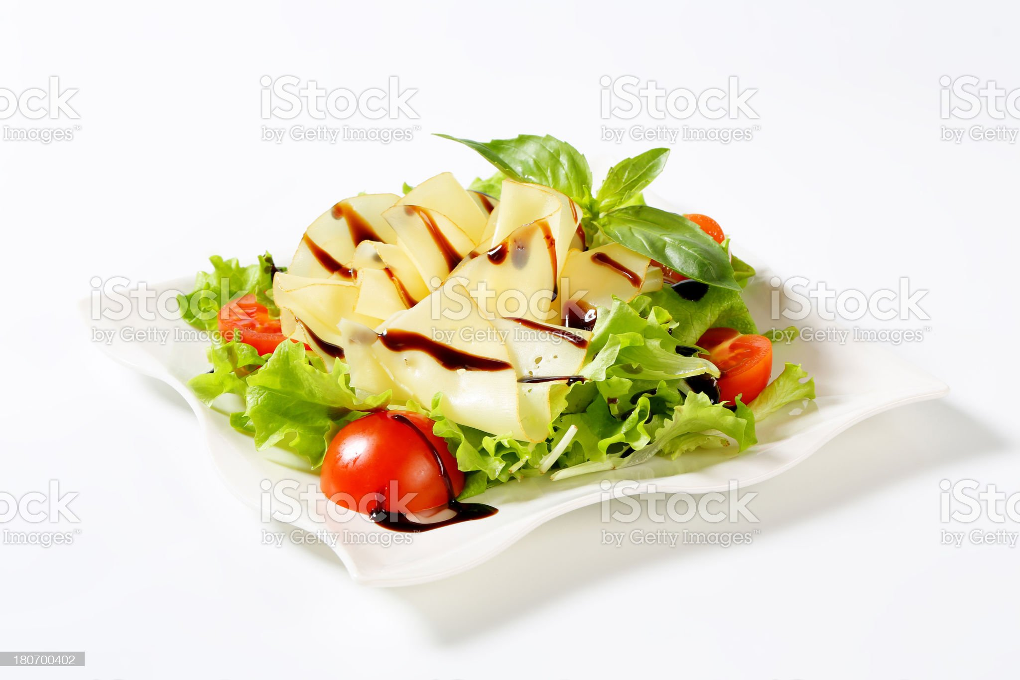 cheese and vegetable salad royalty-free stock photo