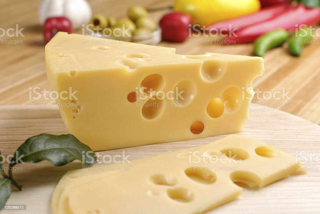 Cheese and vegetables royalty-free stock photo