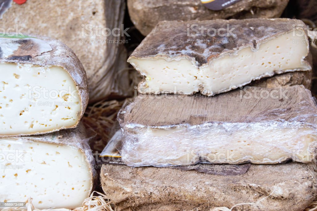 Cheese and wine, Typical products of Piedmonte, Italy stock photo