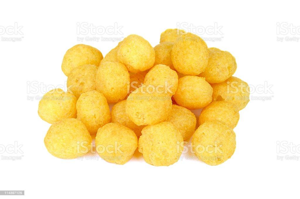 Cheese Ball Snacks stock photo