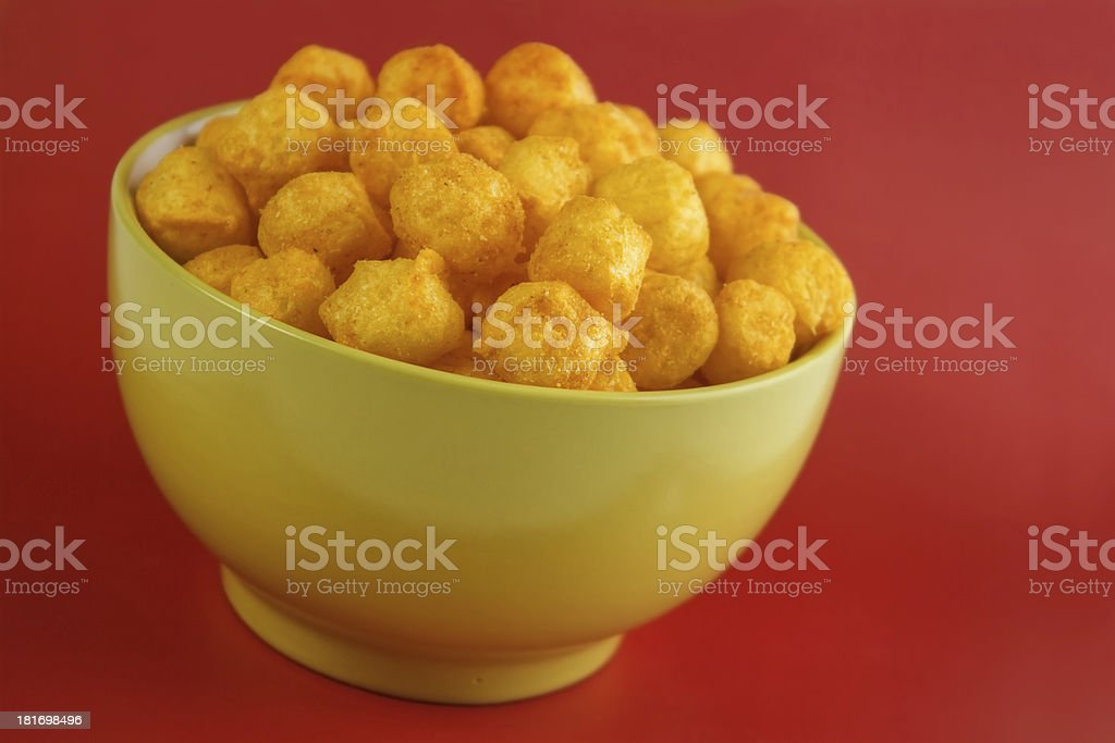 Cheese balls royalty-free stock photo