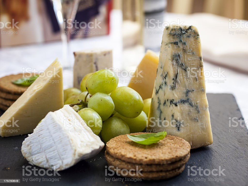 Cheese board royalty-free stock photo