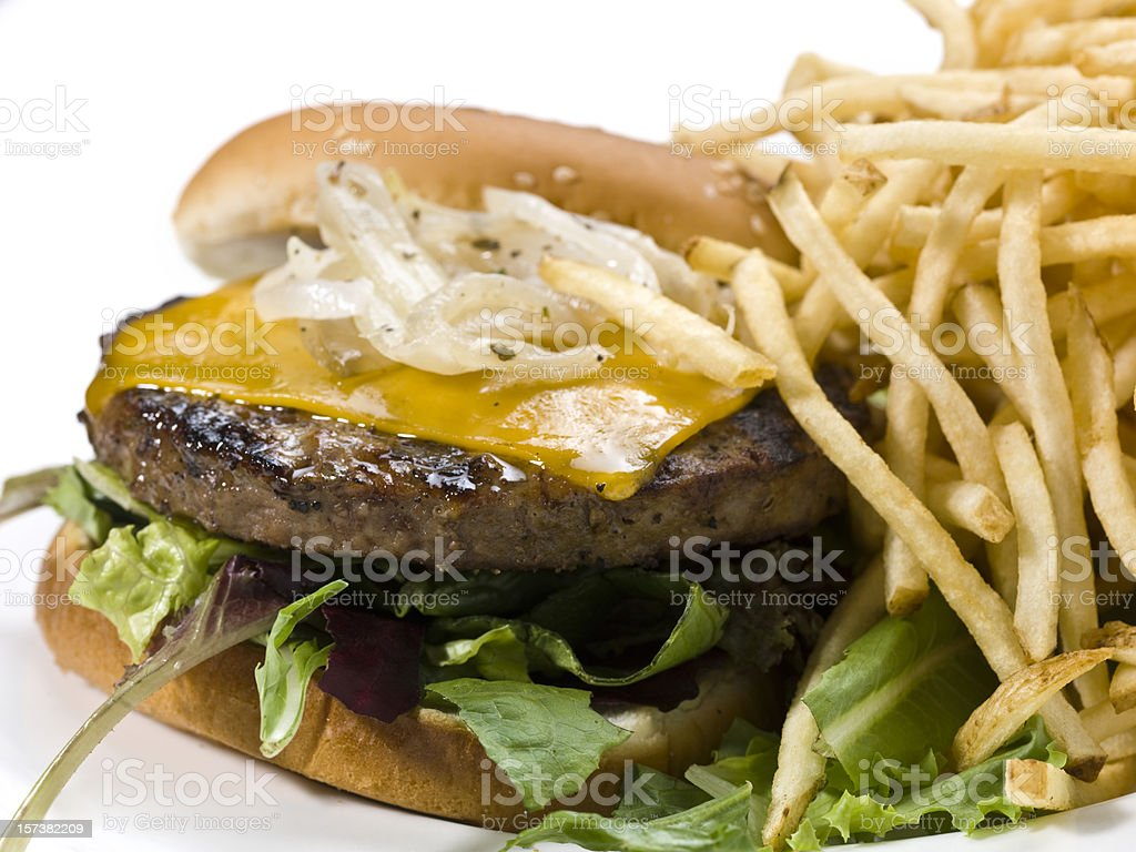 Cheese Burger close up royalty-free stock photo