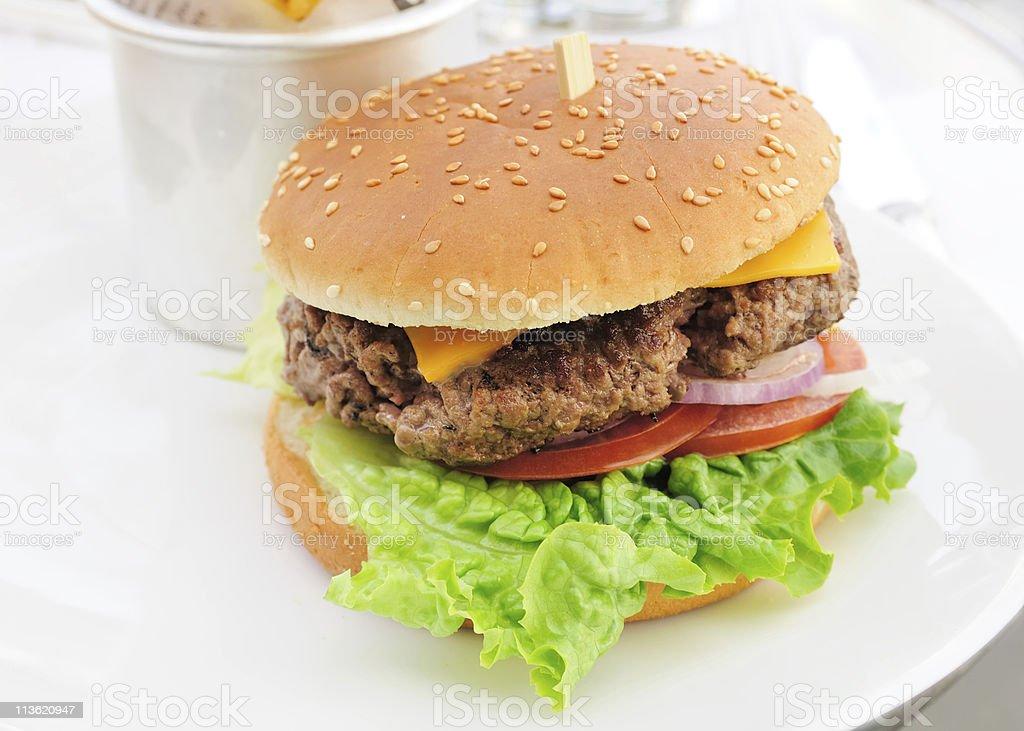 Cheese burger royalty-free stock photo