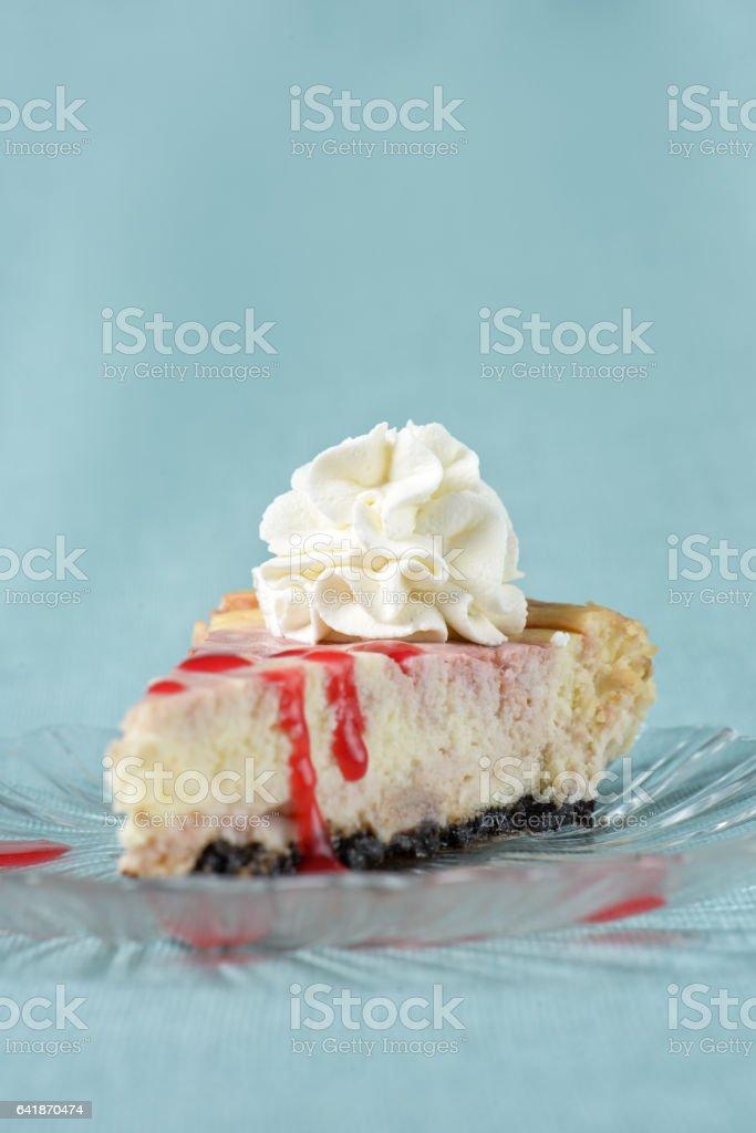 Cheese Cake slice stock photo