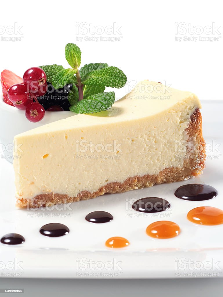 Cheese Cake with Fresh Berries royalty-free stock photo