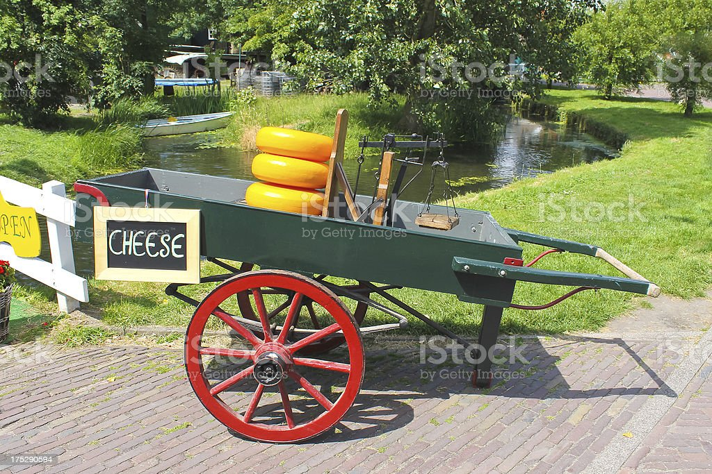 Cheese cart on the island of Marken. Netherlands royalty-free stock photo