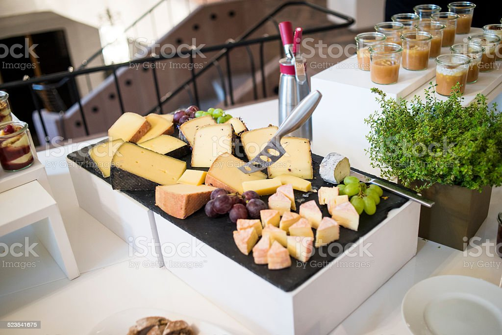Cheese catering stock photo