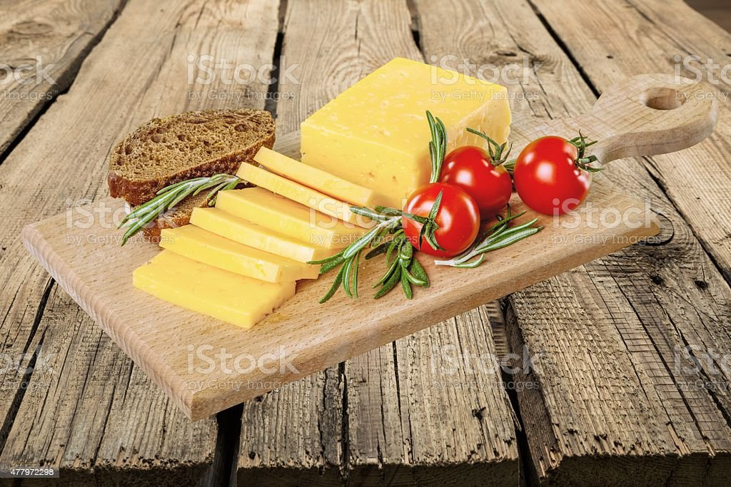 Cheese, Cheddar, Tomato stock photo