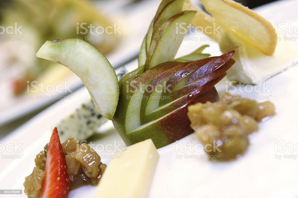 Cheese course stock photo