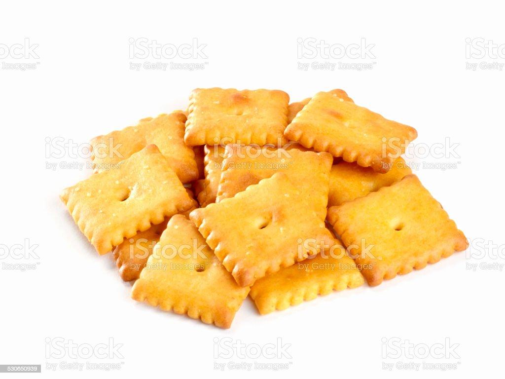 Cheese Crackers stock photo