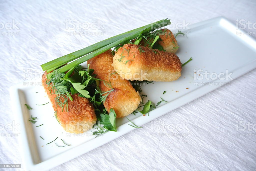 Cheese croquettes stock photo