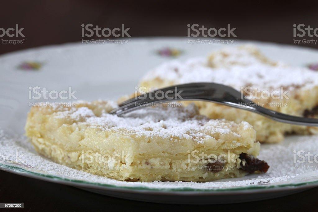 Cheese crumble cake royalty-free stock photo