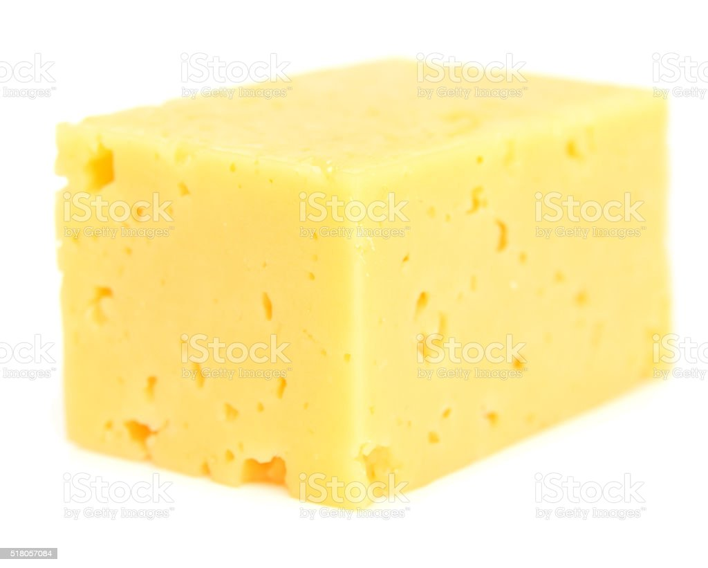 cheese cube on white stock photo