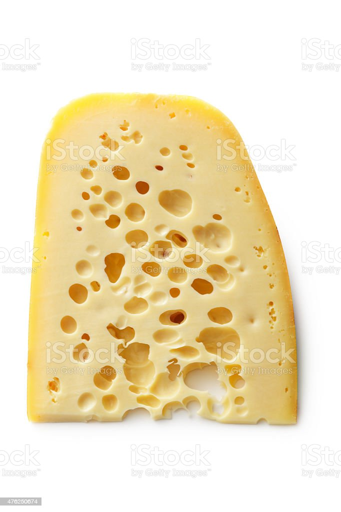 Cheese: Emmenthal Cheese stock photo