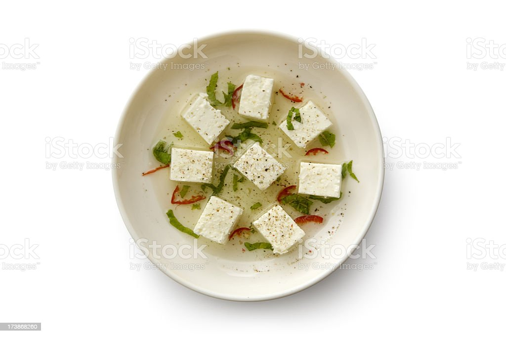 Cheese: Feta royalty-free stock photo