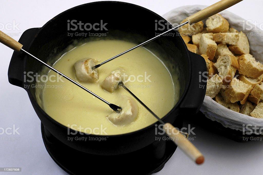 Cheese fondue royalty-free stock photo
