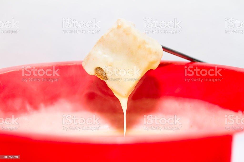 Cheese fondue stock photo