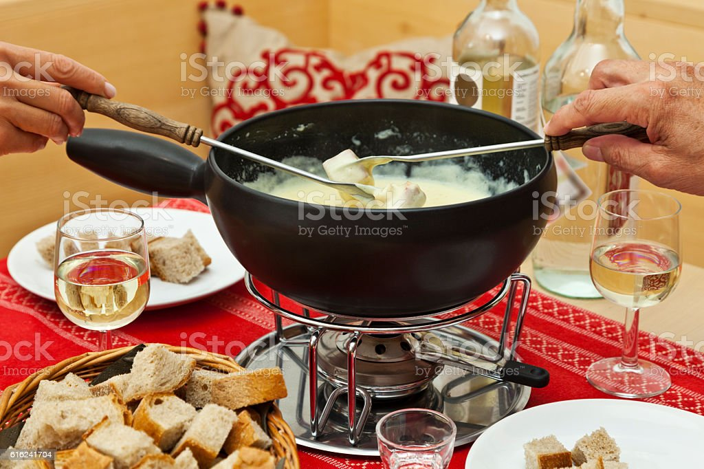Cheese Fondue stock photo