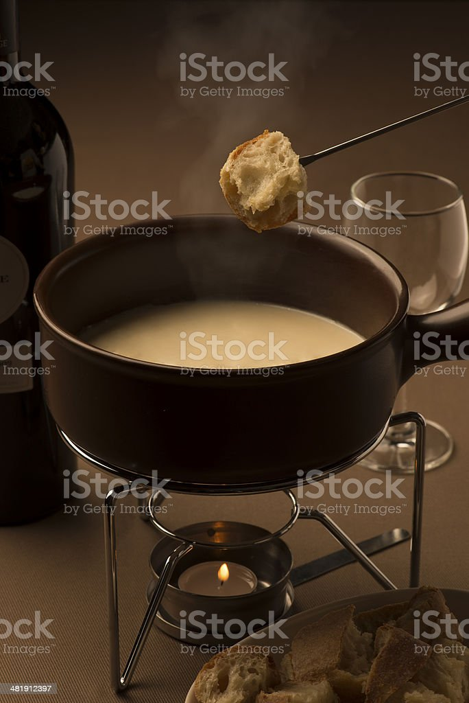 チーズフォンデュ/cheese fondue stock photo