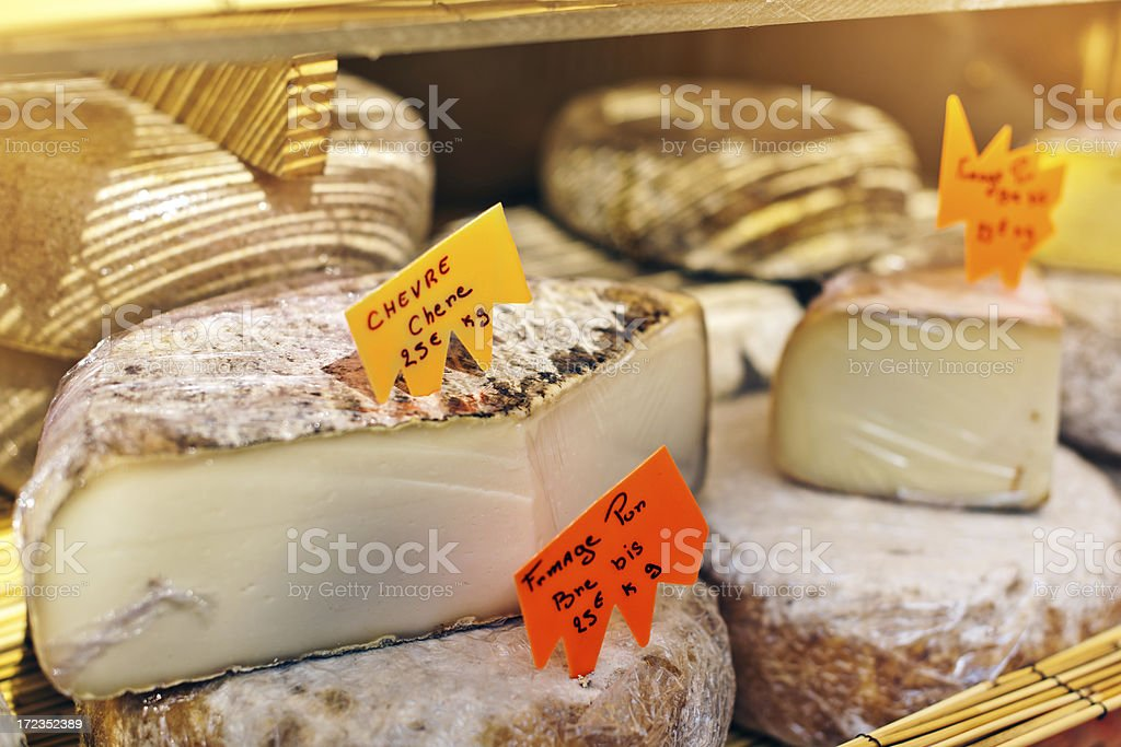 Cheese for sale royalty-free stock photo