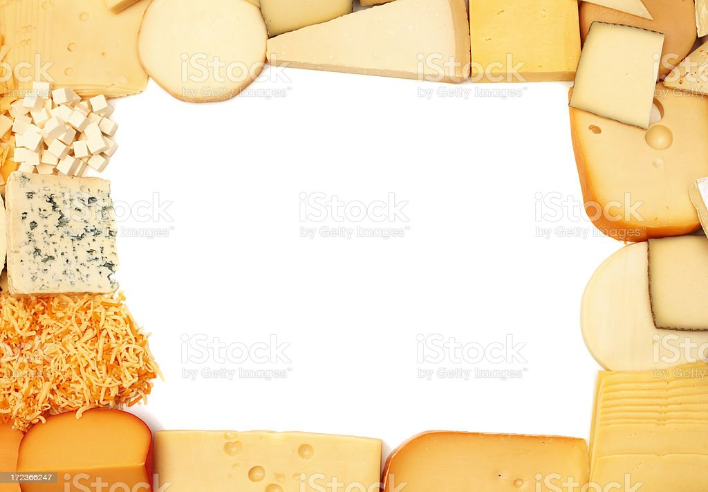 Cheese frame royalty-free stock photo