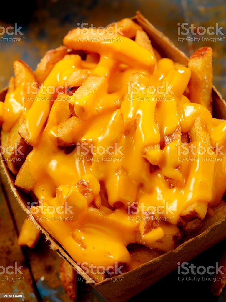 Cheese Fries stock photo