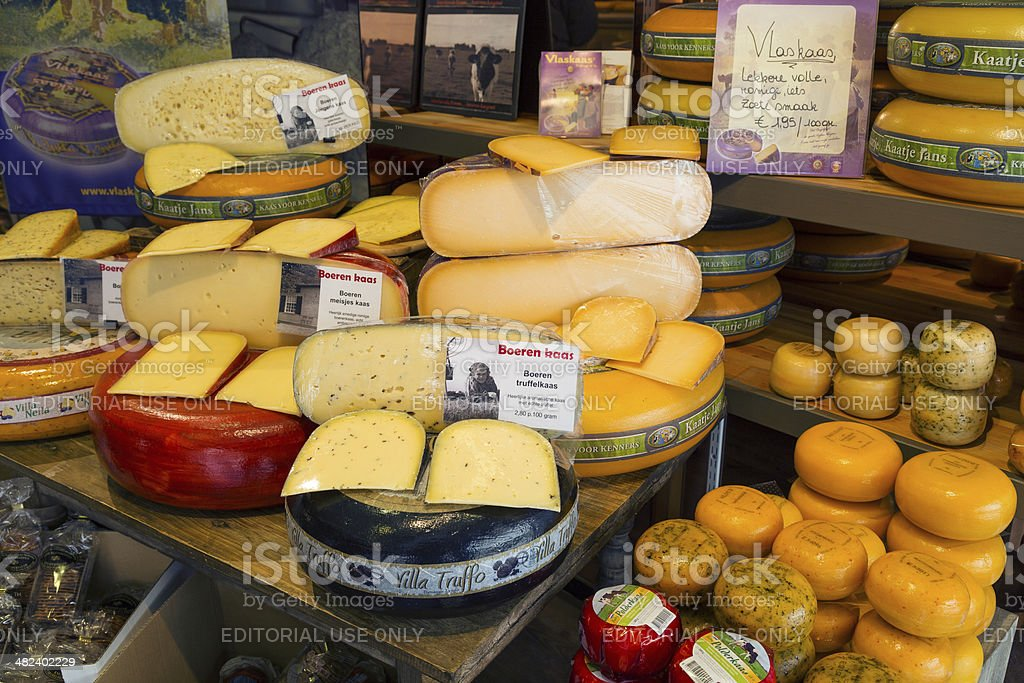 Cheese from Holland stock photo