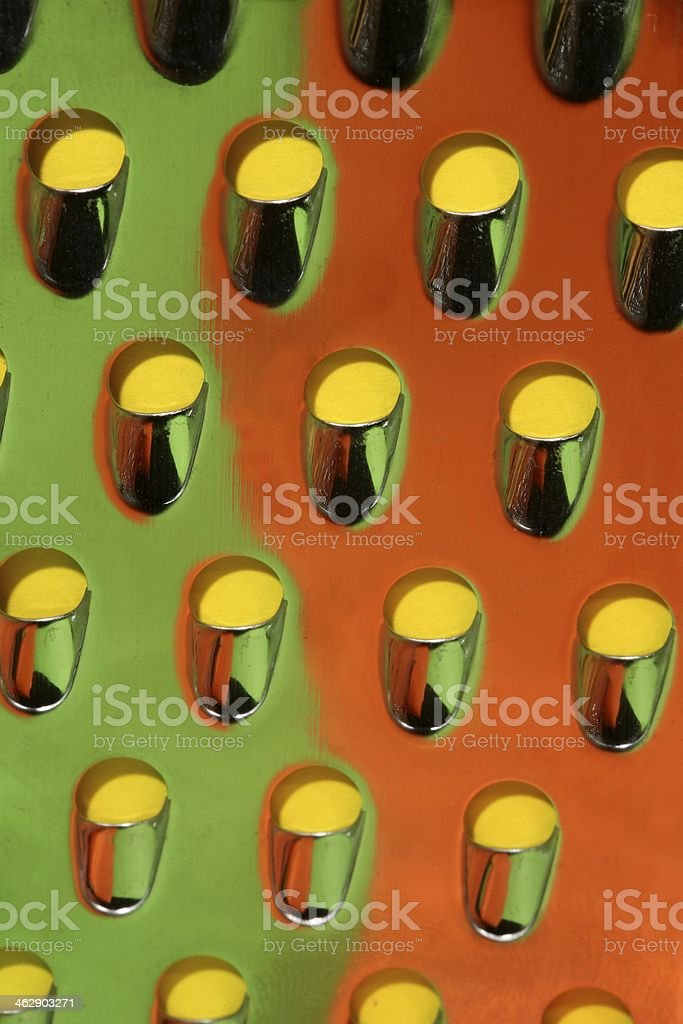 Cheese Grater in Colors stock photo