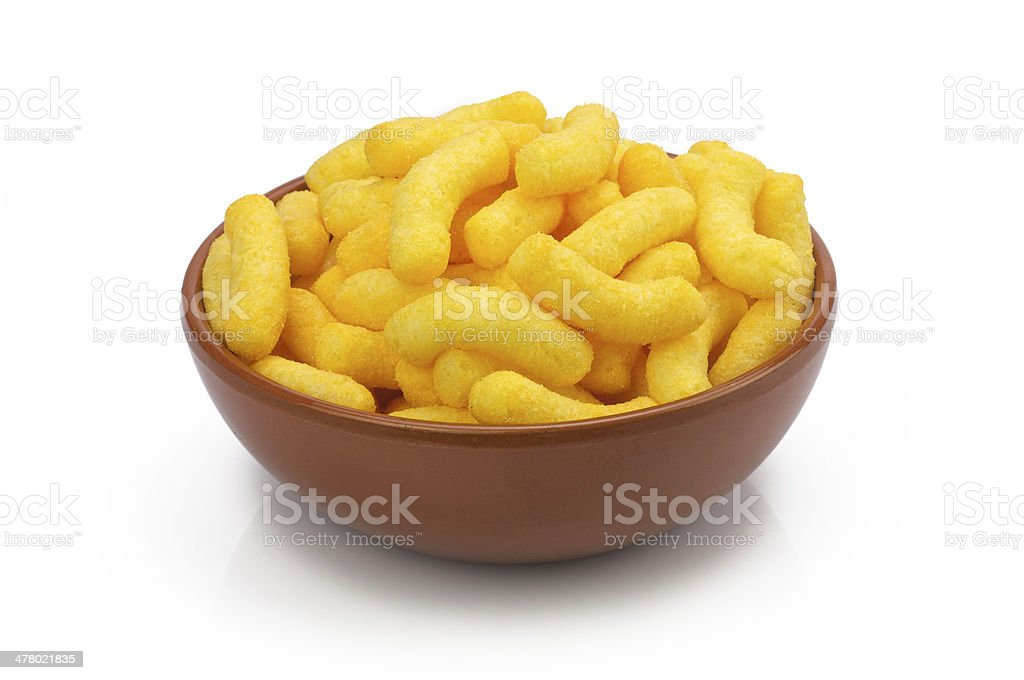 Cheese in chips stock photo
