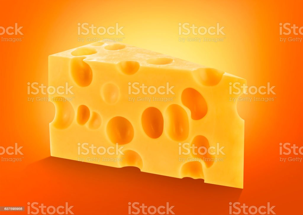 Cheese isolated stock photo
