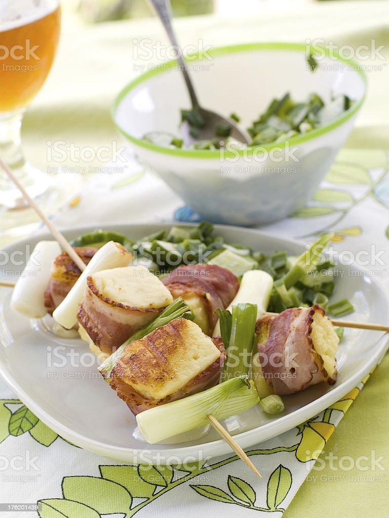 cheese kebab royalty-free stock photo