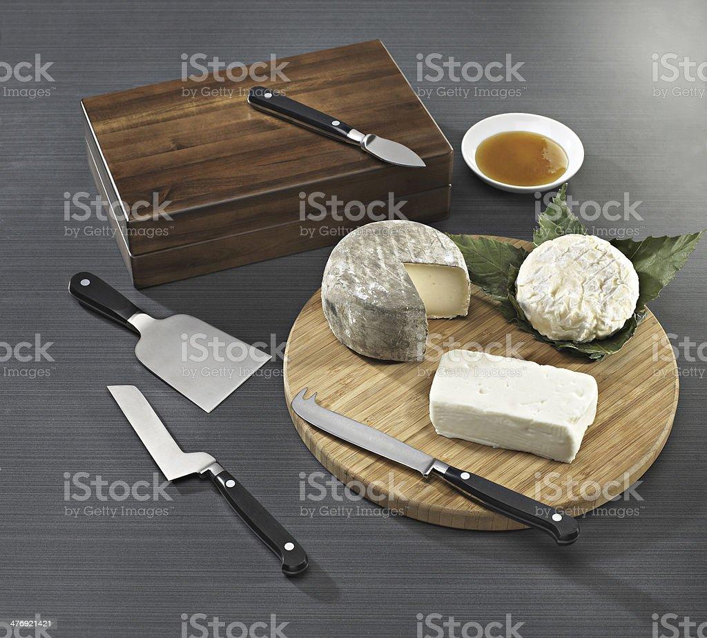 Cheese knives stock photo