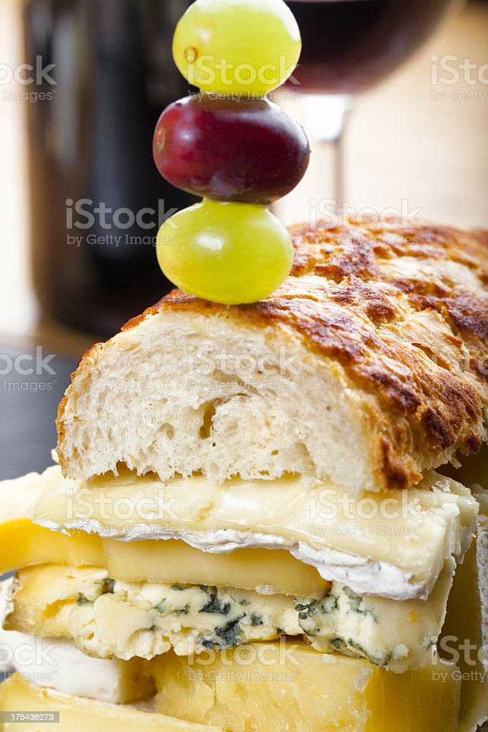 Cheese lover's sandwich stock photo