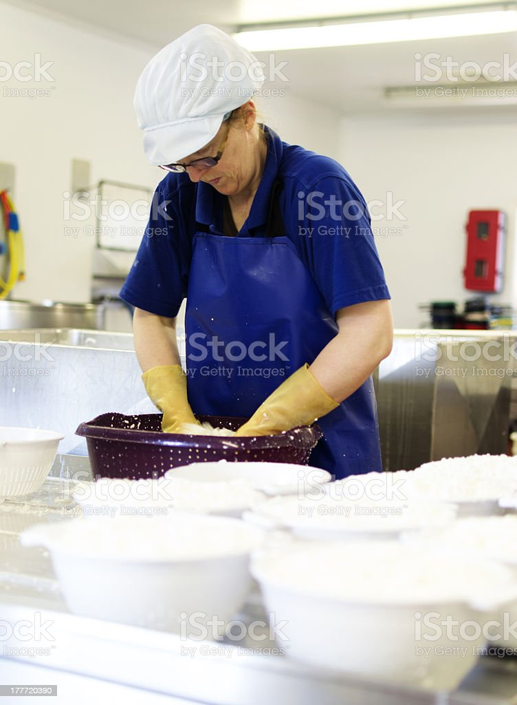 Cheese making royalty-free stock photo