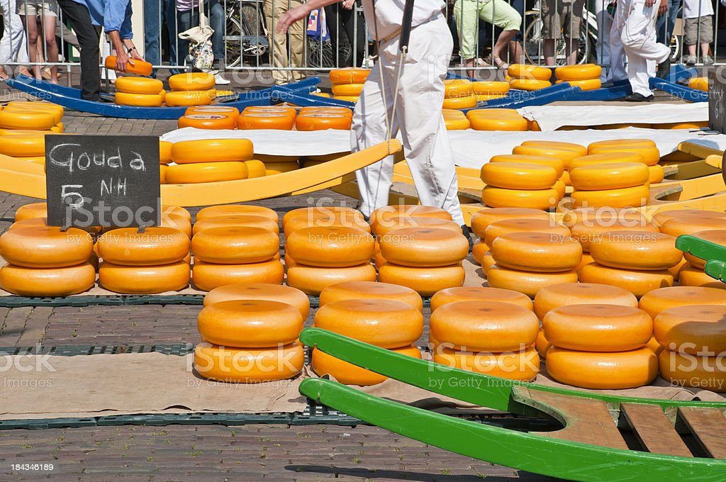 Cheese Market Alkmaar stock photo