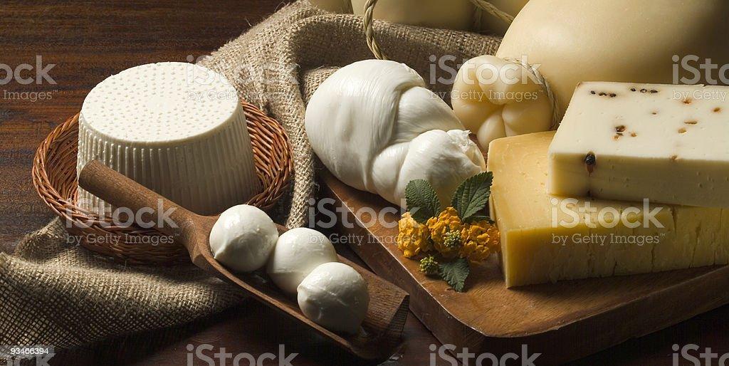 Cheese Mozzarella ricotta stock photo