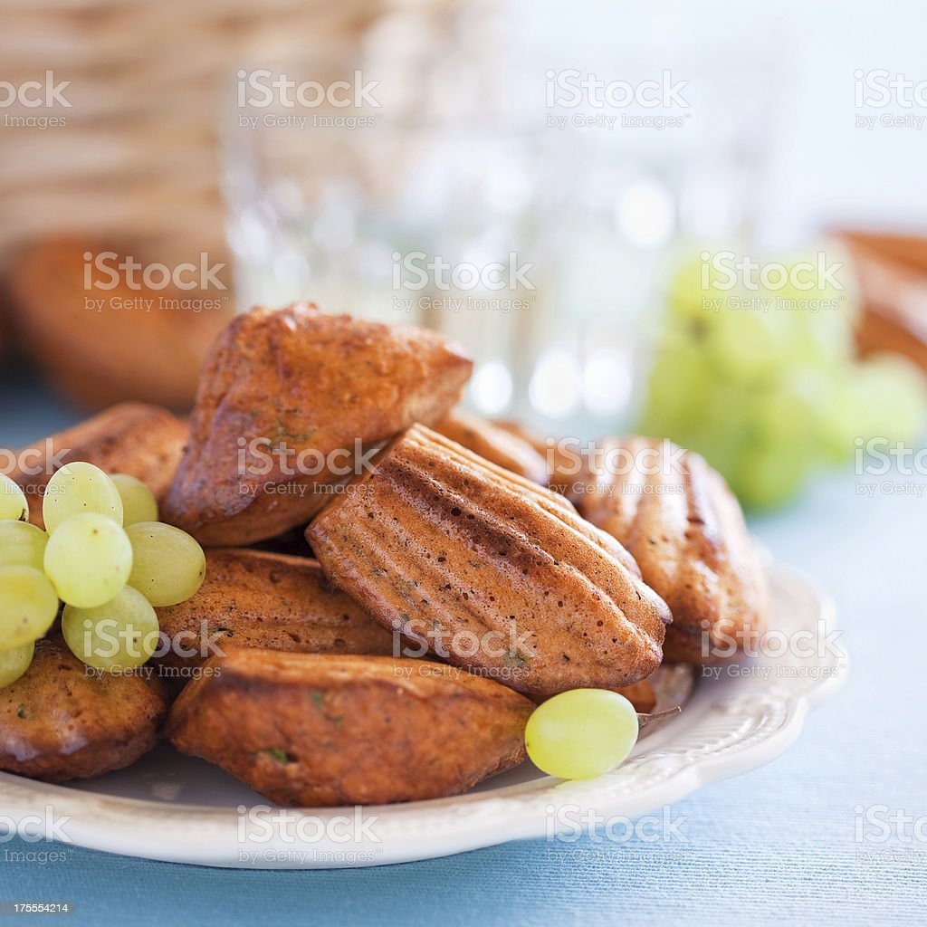 Cheese oat bran madeleines royalty-free stock photo