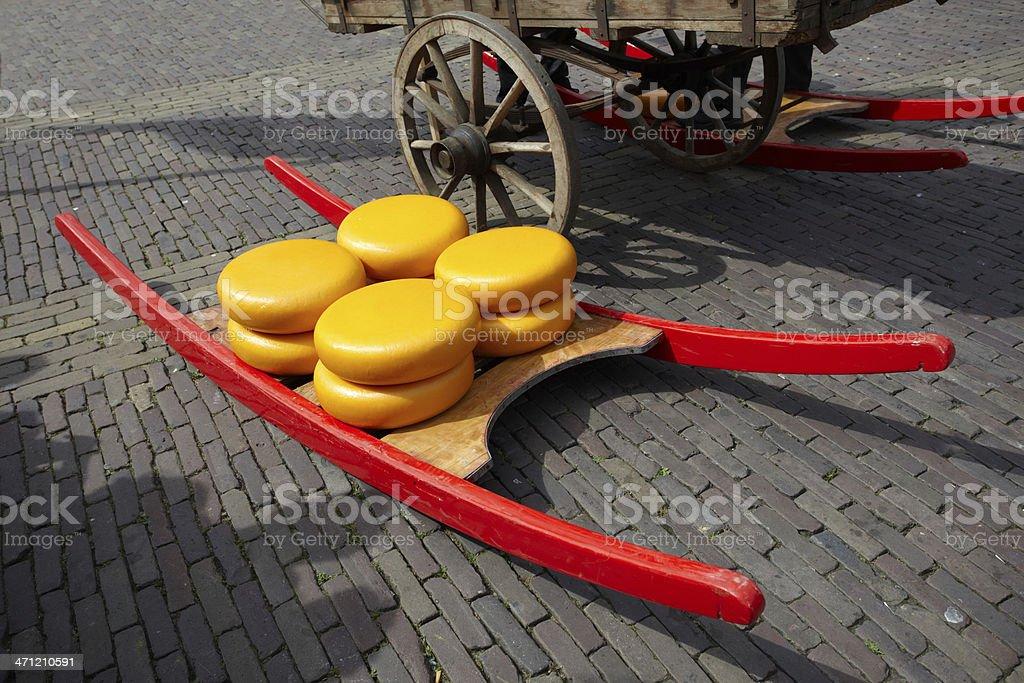 Cheese of city Alkmaar stock photo