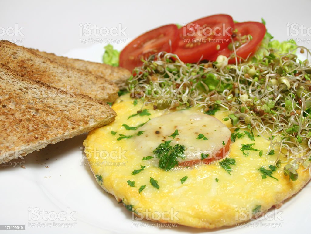 Cheese Omelet royalty-free stock photo