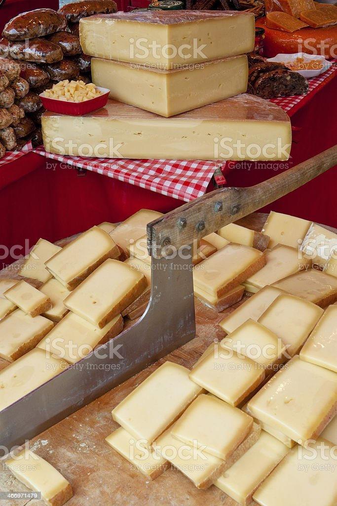 cheese on a cutting board royalty-free stock photo