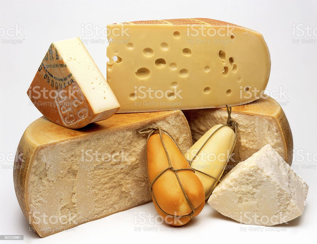 Cheese on a White Background stock photo