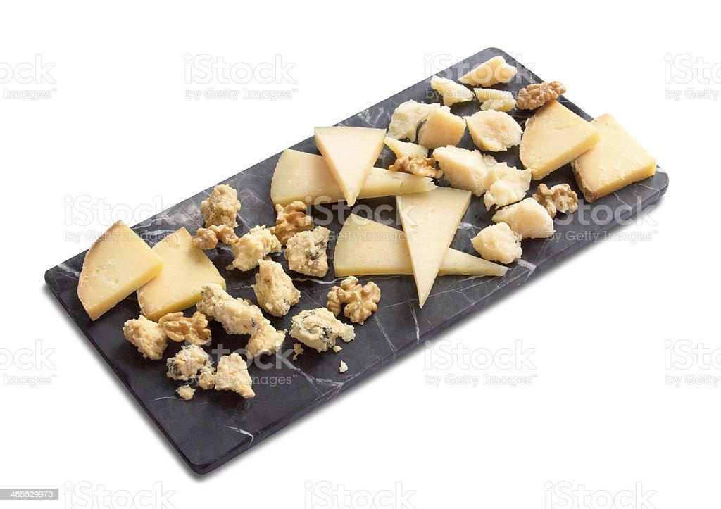 Cheese on platter stock photo