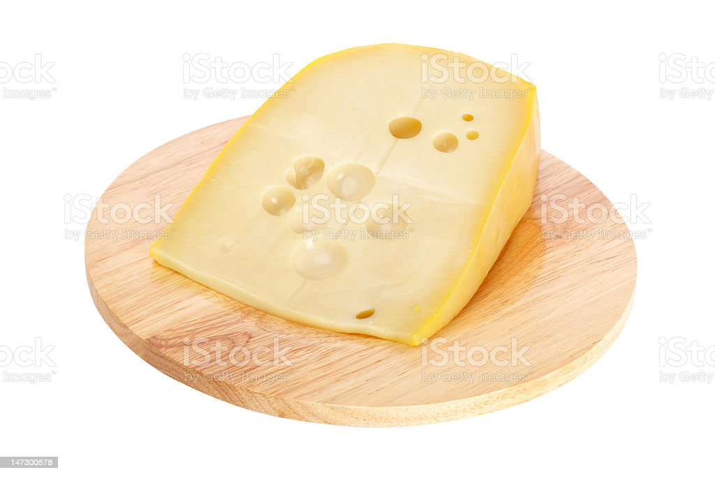 Cheese on wooden dish royalty-free stock photo