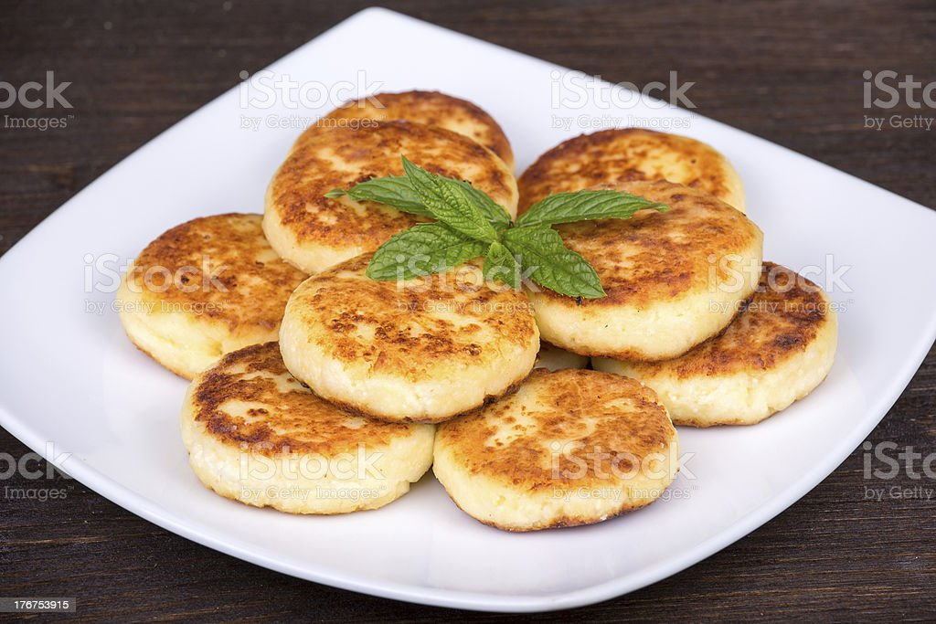 Cheese pancakes royalty-free stock photo
