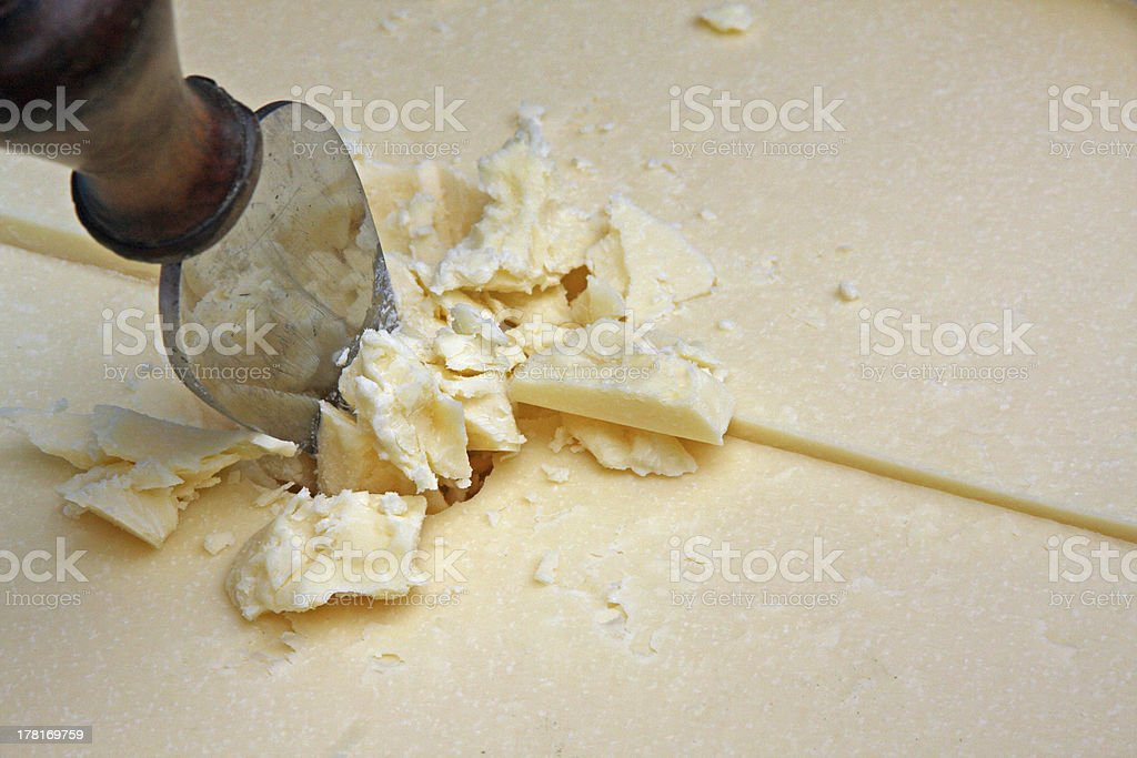 cheese Parmesan reggiano or wheat sliced ready-to-serve as Flake stock photo